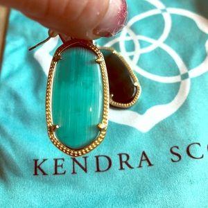 Green Elle Kendra Scott Earrings